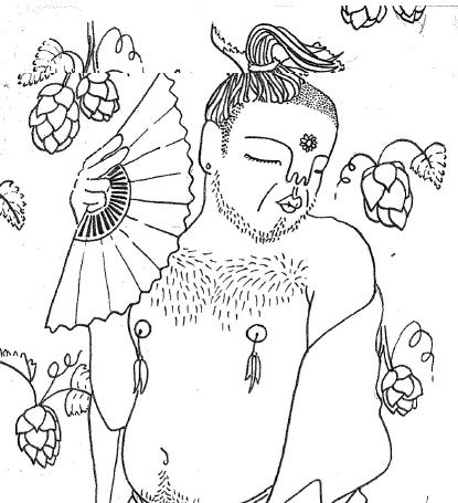 Image of Bottoms Up Baring Burlesque Colouring Book