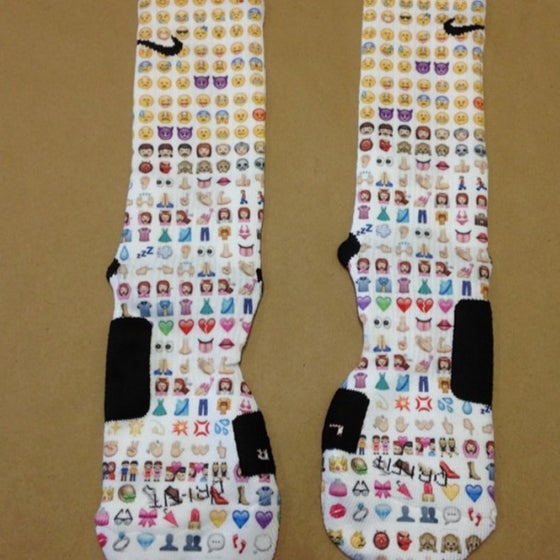 Image of Emoji Nike Elite Socks