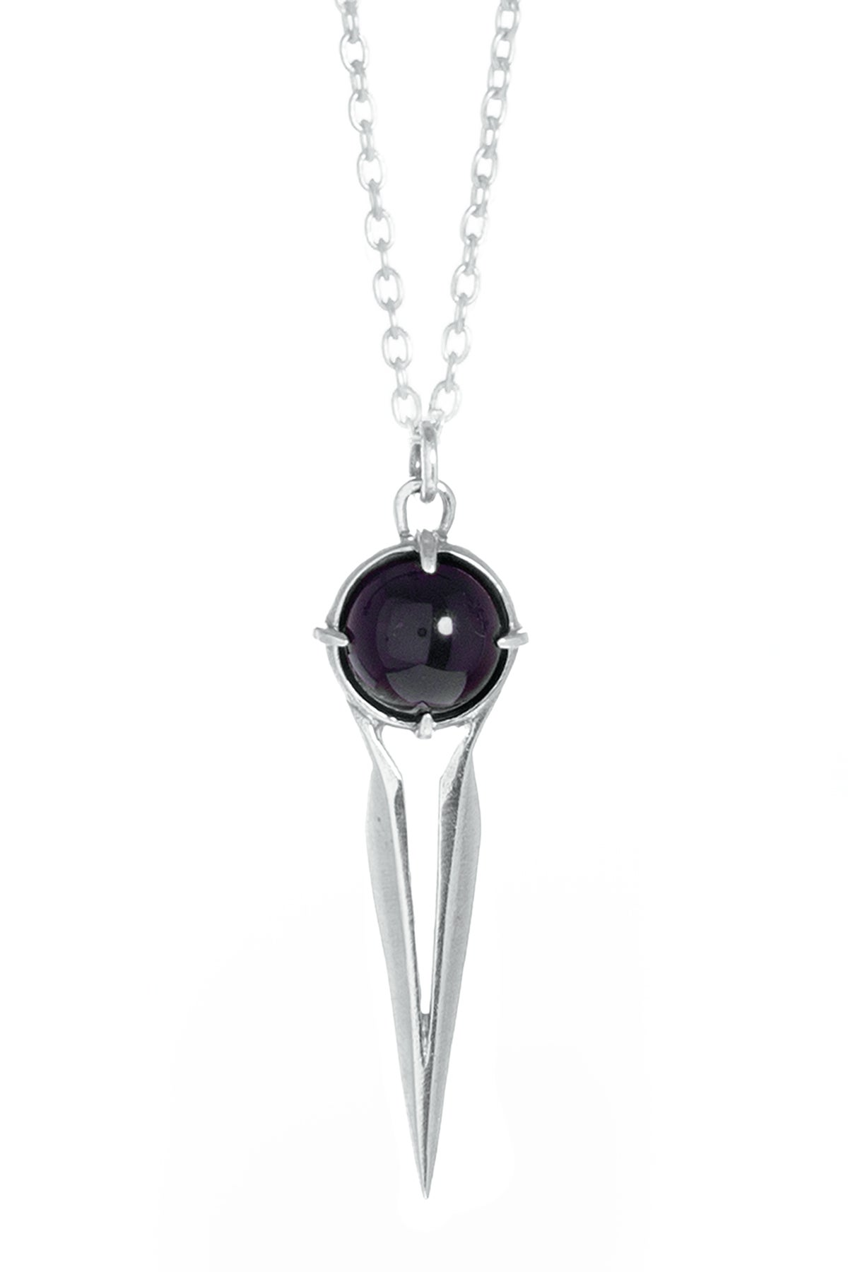 Image of ONYX FALCON NECKLACE - SILVER