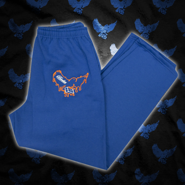 Image of Blue/Orange Dripping Birdies Sweatpants