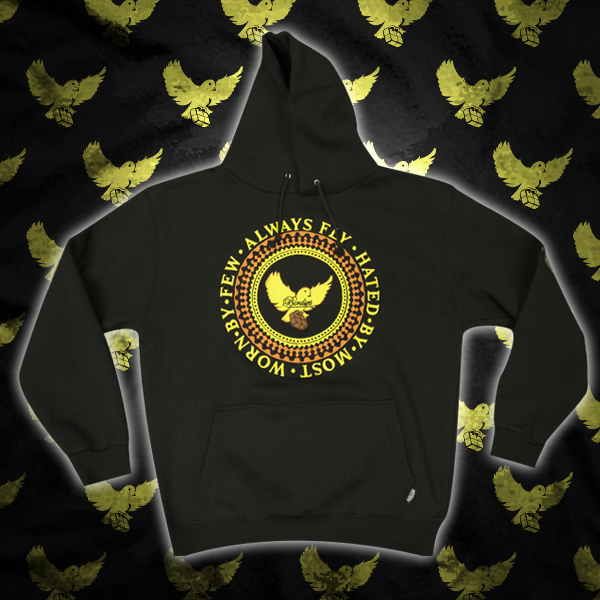 Image of Black/Yellow/Brown Birdies Crest Hoodie