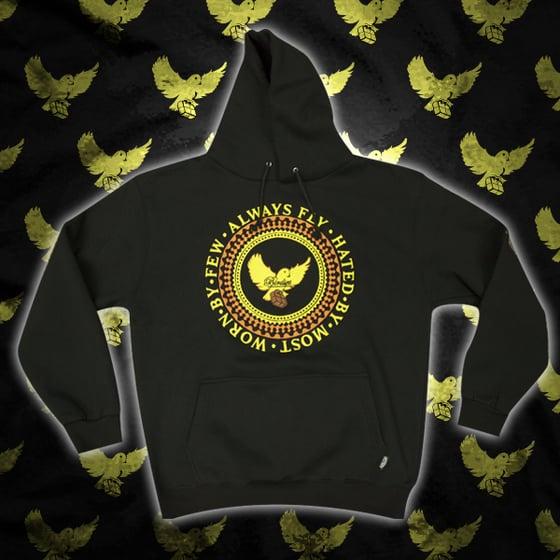 Image of Black/Yellow/Brown Birdies Crest Hoodie