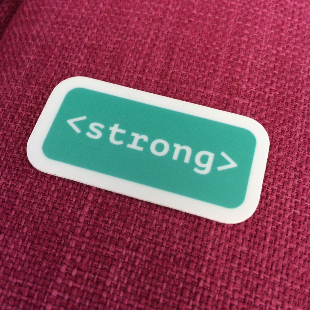 Image of Strong Tag Sticker