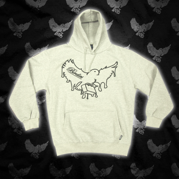 Image of Grey/Black Dripping Birdies Hoodie