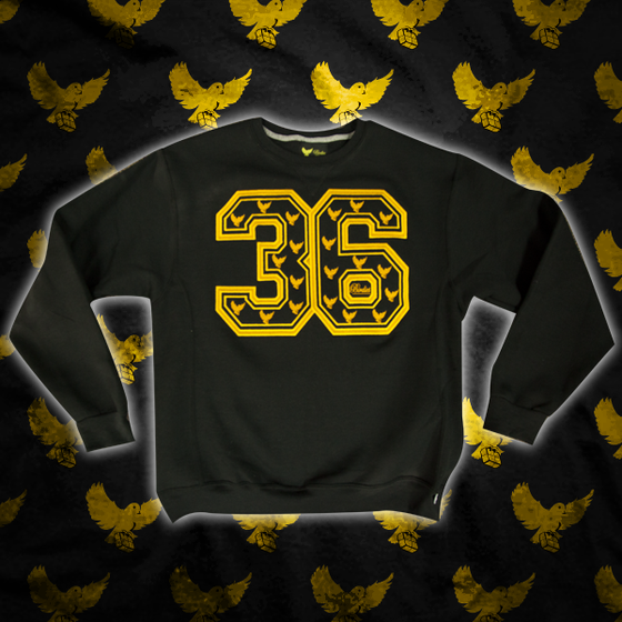 Image of Black/Gold 36 Crewneck Sweater