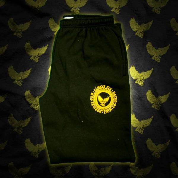 Image of Black/Gold Crest Sweatpants