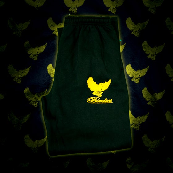 Image of Black/Gold Birdies Sweatpants