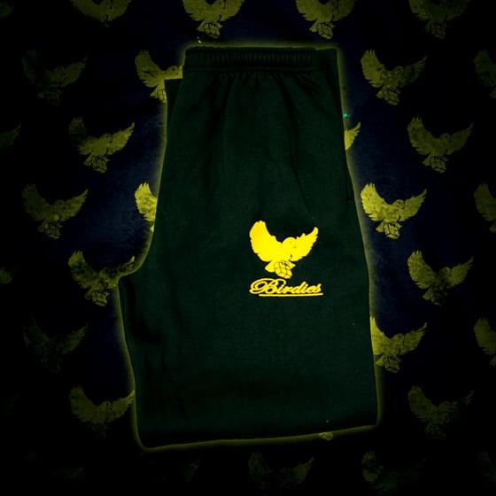 Image of Black/Gold Birdies Sweatpants