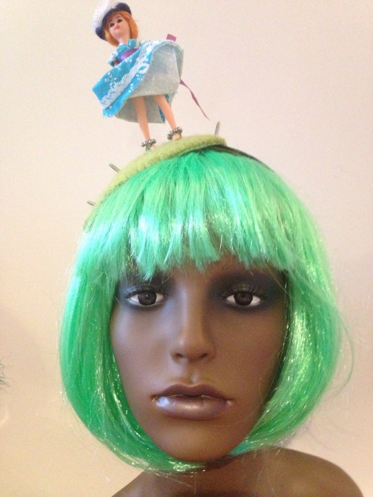 Image of Windy day antique doll fascinator