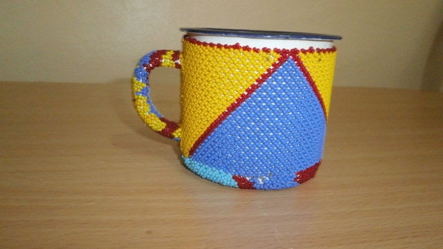 Image of  Maasai beaded mug