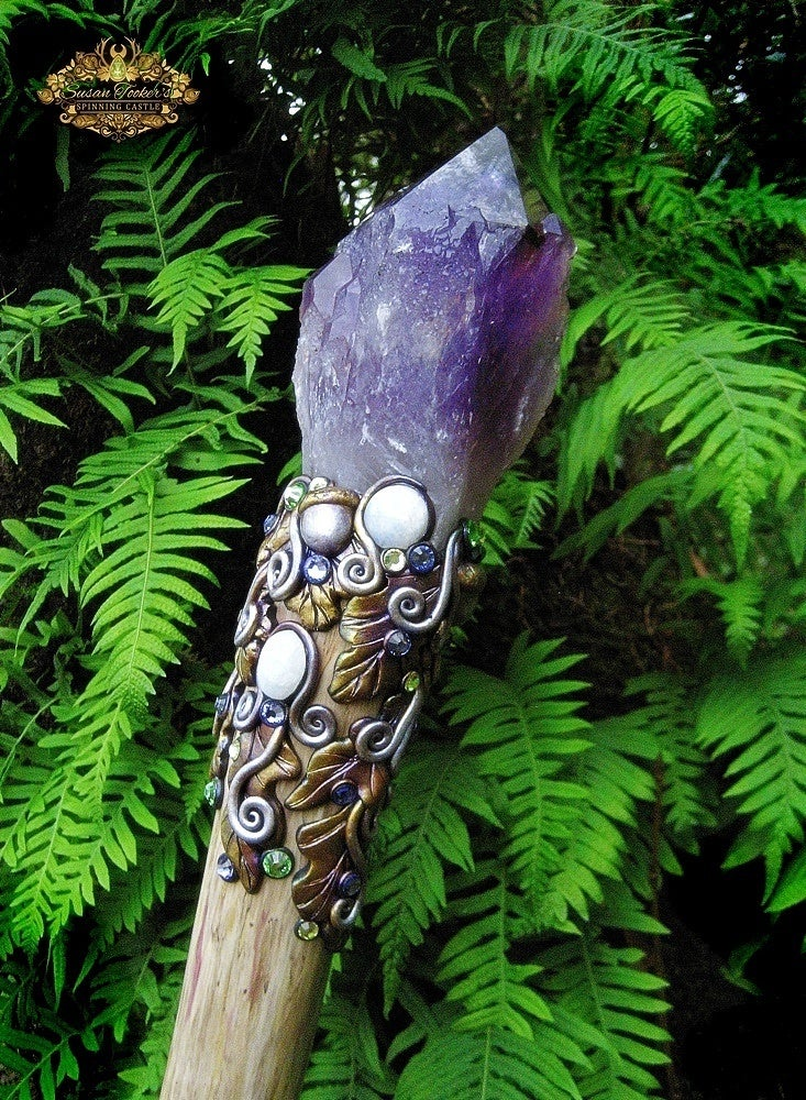 Amaranthine Dreams Amethyst Quartz Crystal Magick Staff
