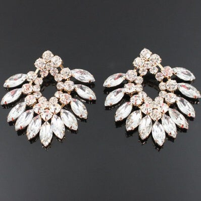 Image of CRYSTAL STUDDED FASHION EARRINGS