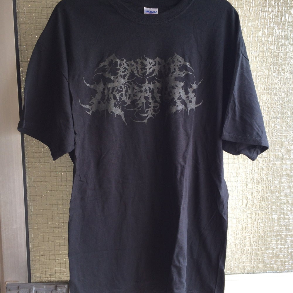Image of CEREBRAL INCUBATION - Black Logo T-Shirt