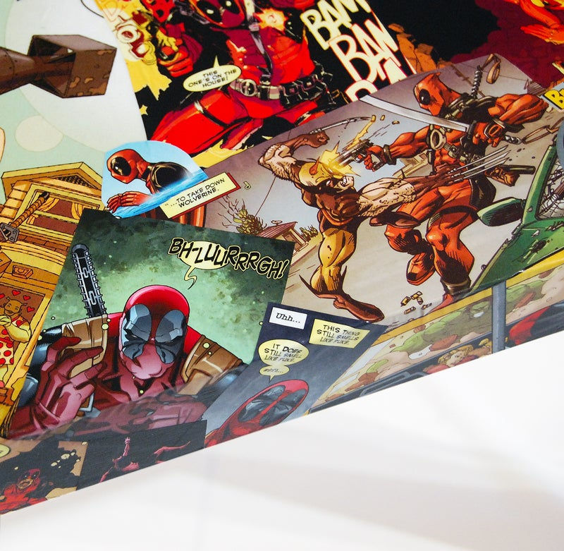 Image of Deadpool Comic Collage Table