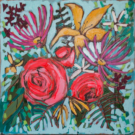 """Image of flowers for demi 20""""x20"""""""