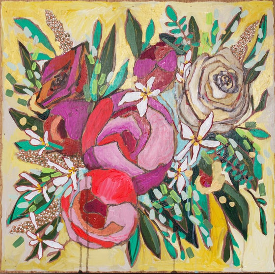 """Image of peonies for grayson 20""""x20"""""""