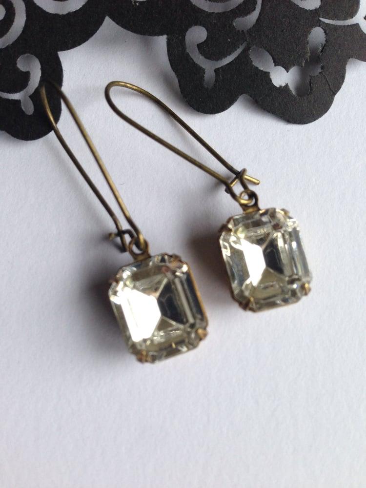 c45d75cf16be6 Vintage Swarovski Clear Crystal Earrings