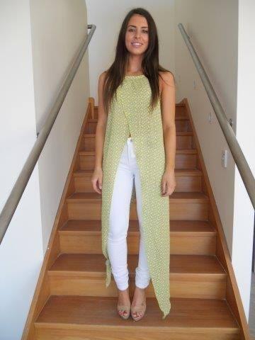 Image of Midori Lime Long Top