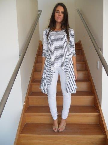 Image of Nautical Stripes Long Top