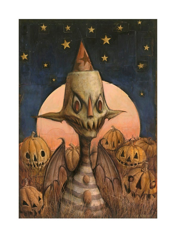 "Image of ""Pumpkin Patch Goblin"" Limited Edition print"