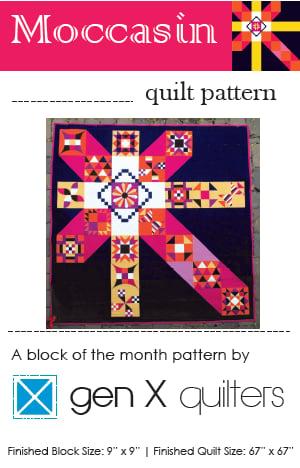 Gen X Quilters Moccasin Sampler Quilt Pattern Hard