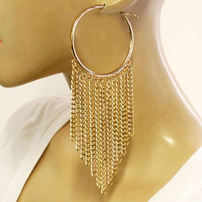 Image of CHAIN FASHION HOOP EARRINGS