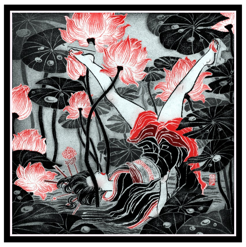 Image of Letter Y Silk Signed Print by Yuko Shimizu