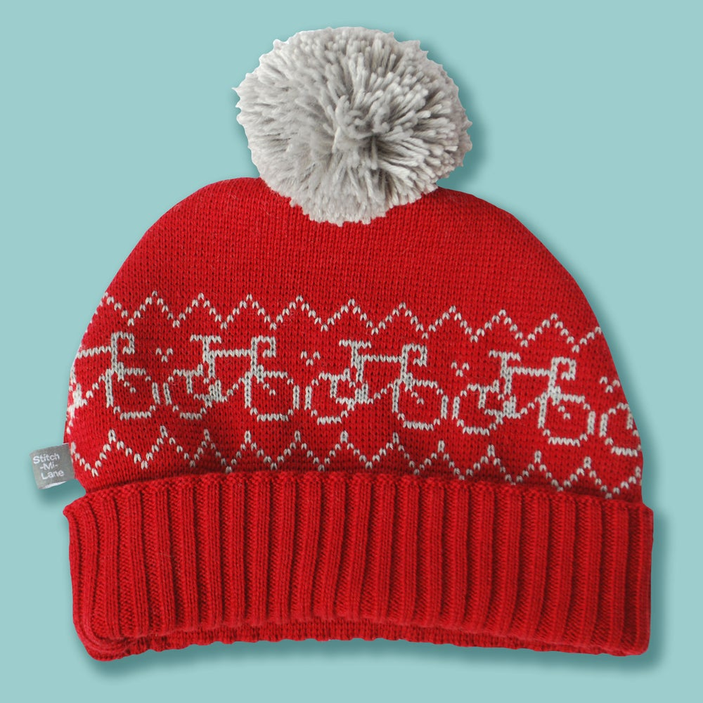 Image of Snug Spectator Hat Red and Grey