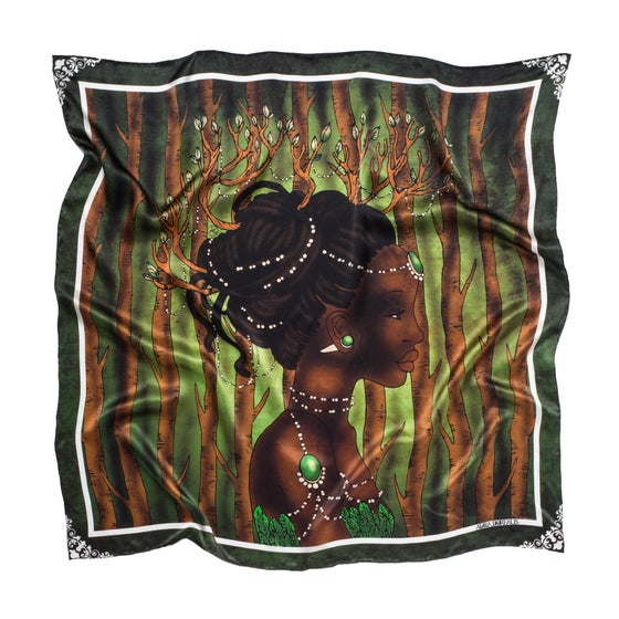 Image of Davida - Graphic Silk Scarf