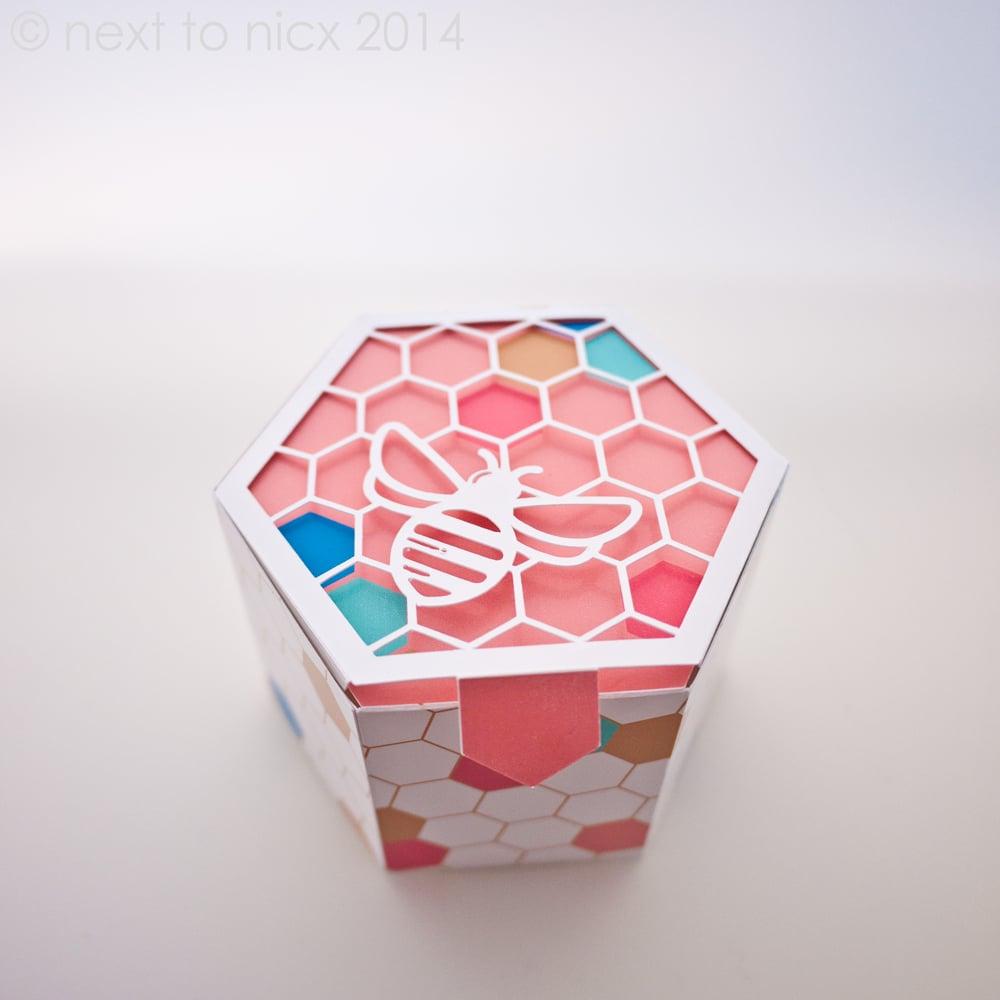 Image of Digital Download Bee Geometric Box