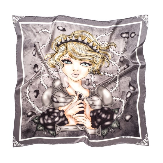 Image of Jadzia - Graphic Silk Scarf