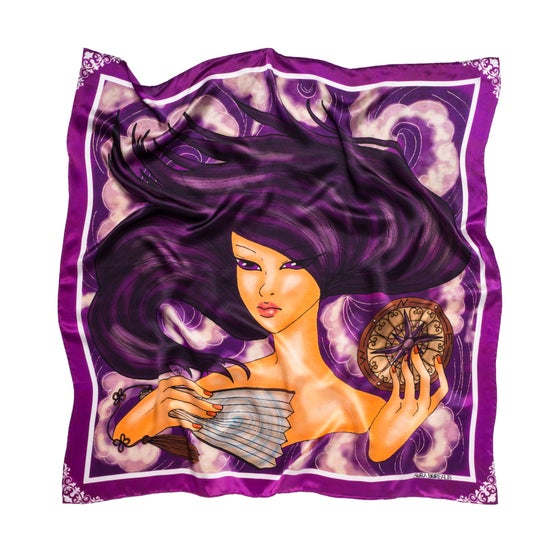 Image of Tuule - Graphic Silk Scarf