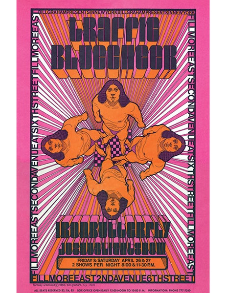 Image of TRAFFIC - BLUE CHEER & IRON BUTTERFLY - 1968