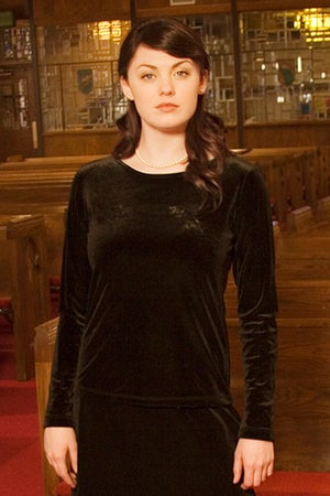 Image of Velvet Round Neck Top (Long)
