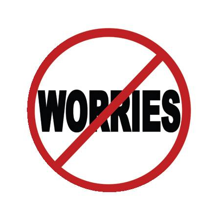 "Image of 1"" No Worries Button"