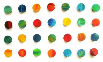 Image of 'LYRICAL CIRCLES' | Modern Wall Sculpture | Original Painting Abstract Circles | 3D Wood Wall Art