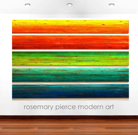 Image of 'SOLIDARITY' | Colorful Wall Art | Wood Wall Art | Modern Original Painting