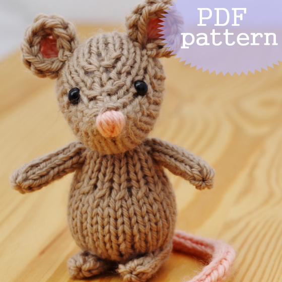 Image of The quiet little mouse Knitting Pattern