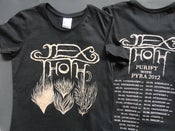 Image of Elementals Women's T w/ 2012 European tour dates on back