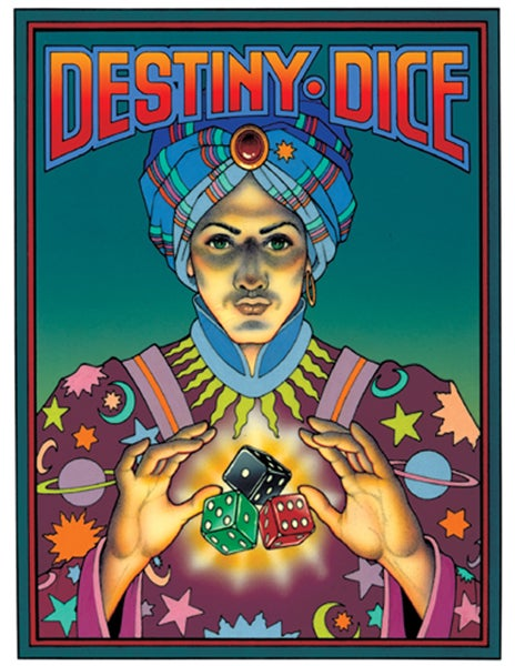 "Image of ""DESTINY DICE"" FORTUNE TELLING GAME - FALL 1987"