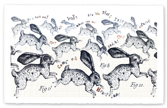 "Image of Giclee Print- ""Run Rabbit Run"""