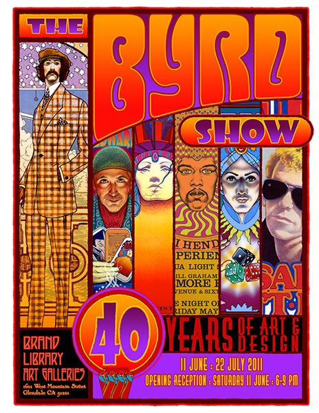 """Image of """"THE BYRD SHOW: 40 Years of Art & Design"""" - BRAND GALLERIES - 2011"""
