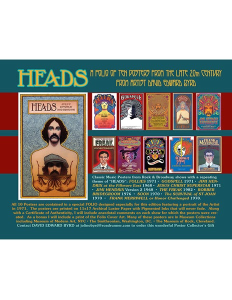 "Image of ""HEADS: A Folio of 10 Posters From the Late 20th Century"" -  2012"