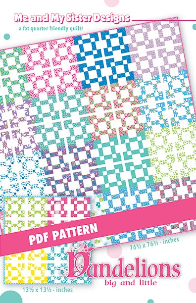 Image of Dandelions big and little PDF pattern