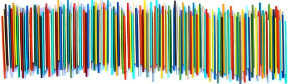 Image of 'STICKS IN MULTI-COLOR AND NATURAL' | Large Wall Art | Wood Stick Wall Sculpture