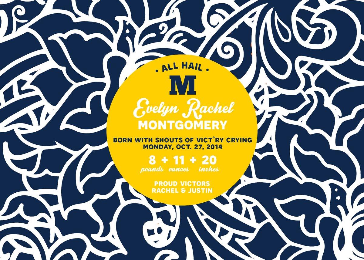University of Michigan (U of M) Baby Announcement