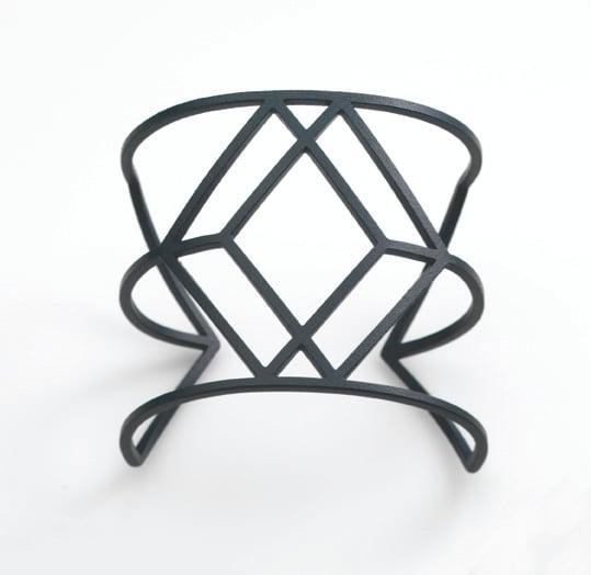 Image of Dark Grey Cube Cuff