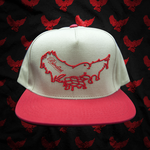 Image of Beige/Red Dripping Snapback