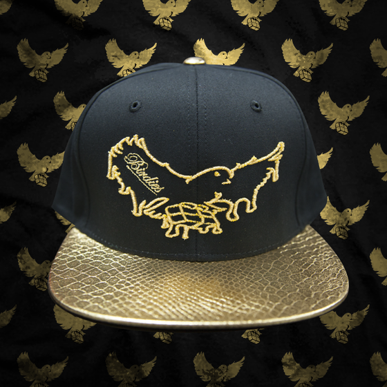 Image of Black/Gold Dripping Snapback