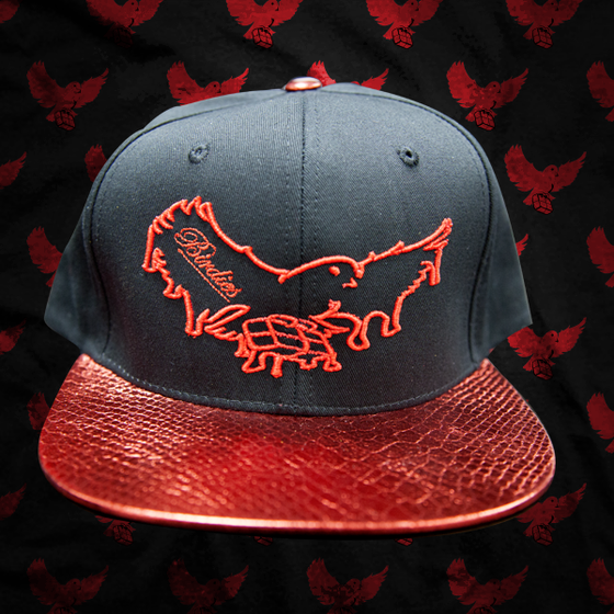 Image of Black/Red Dripping Snapback